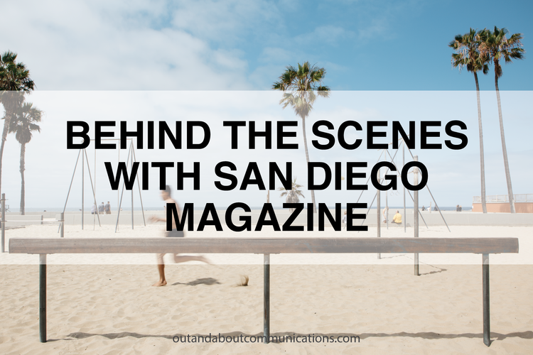 Behind the Scenes with San Diego Magazine