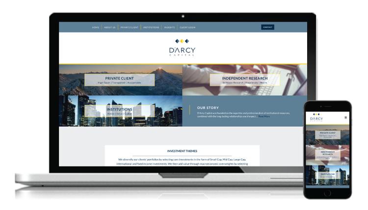 DArcy Capital Website Redesign