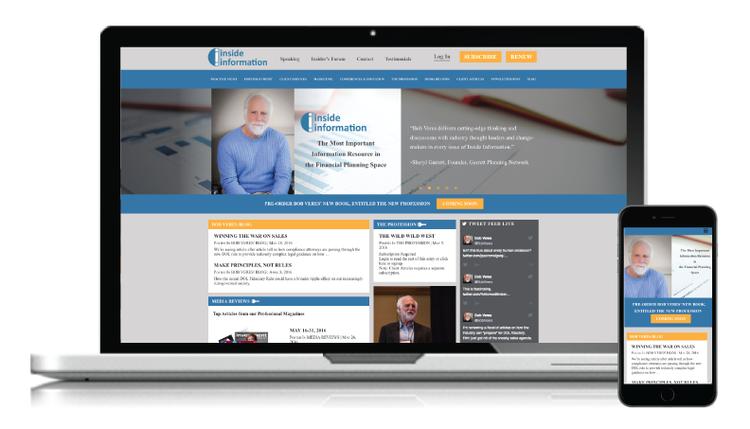 Redesign for Bob Veres Inside Information Website